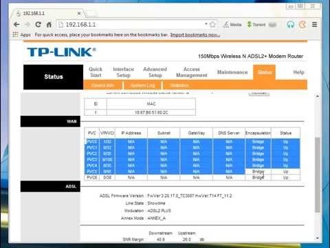 how to configure and port forward  tp link 150mbps adsl2+ modem TD-W8951ND TD-W8151N TD-W8901N