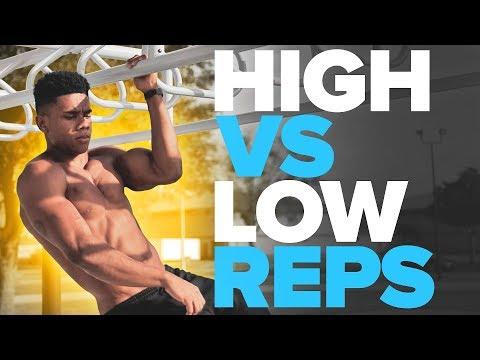 High vs Low Reps for Calisthenics