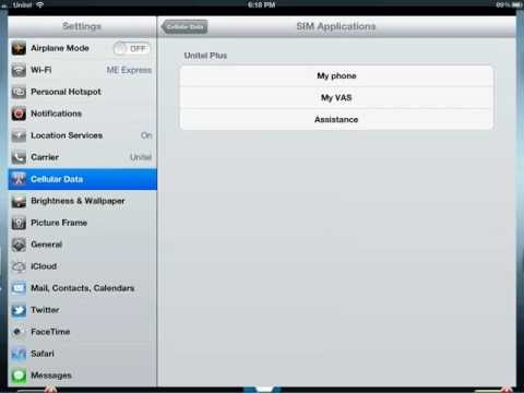 Top up money for iPad with Unitel by ME SHOP