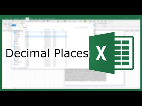 How to set the Number of Decimal Places Displayed in Excel? | Excel in Minutes