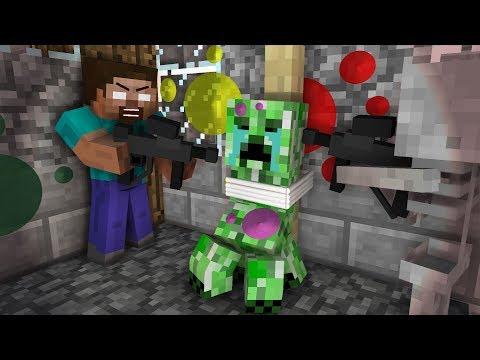 Monster School: Paintball Challenge - Minecraft Animation