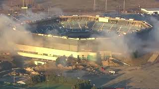 Pontiac Silverdome implosion fails after first blast