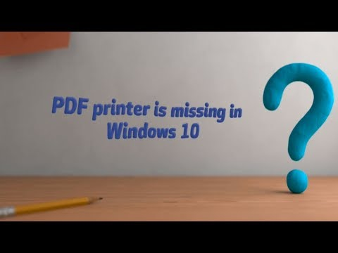 Fix Microsoft print to pdf not working in Windows 10
