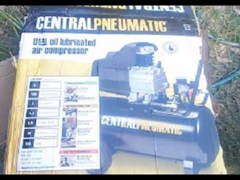 Air compressor Central pneumatic 8 Gallon 2 Hp Review & Assemble