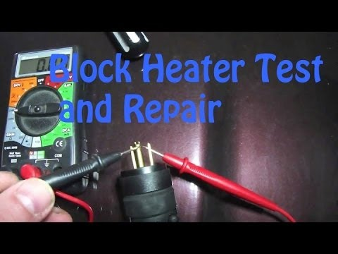 Testing and Repairing a Block Heater Cord a real easy fix