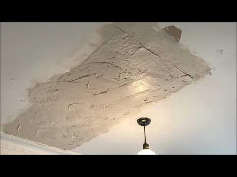 Large Hole in Plaster Board Ceiling Repair
