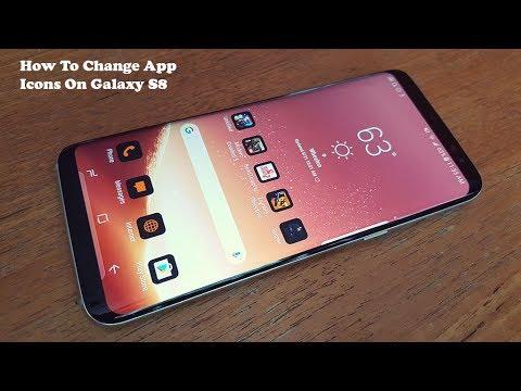 How To Change App Icons On Galaxy S8 / Galaxy S8 Plus - Fliptroniks.com