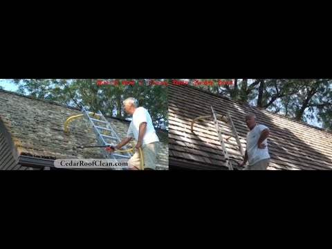 Roof Cleaning: How To Remove Moss, Lichen, Fungi From A Cedar Roof | Sullivan Roof Cleaning