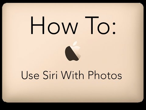 How To Use Siri With Photos: iPhone