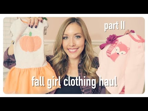 fall clothing haul | cute + stylish baby girl clothes | brianna k