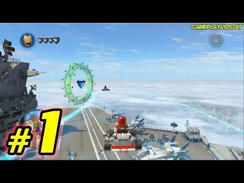LEGO Marvel Superheroes Free Roam Walkthrough: Part 1 - (Xbox 360 / Playthrough)