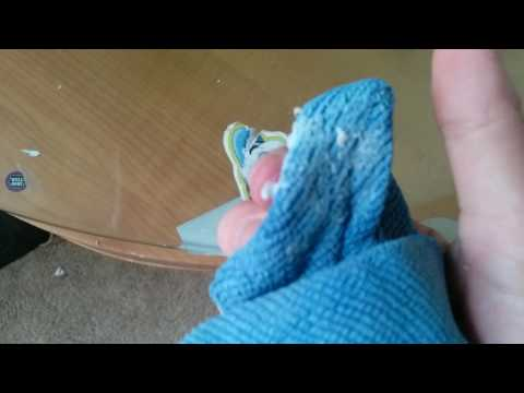 Norwex Envirocloth removing stickers #1