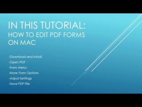 How to Edit PDF Forms on Mac