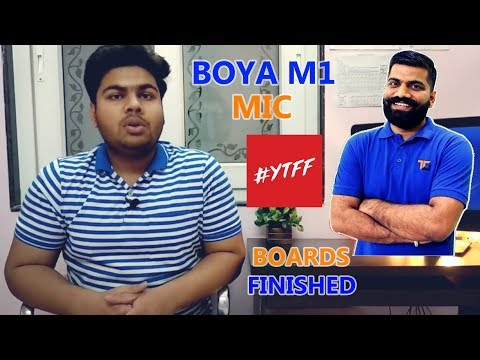 🎤 BOYA M1 UNBOXING & LIVE TEST 🔊 | BEST MIC FOR A YOUTUBER | BOARDS FINISHED