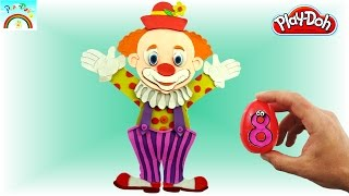 Play Doh Art (Cute Clown) for kids - by Play Doh Kids channel