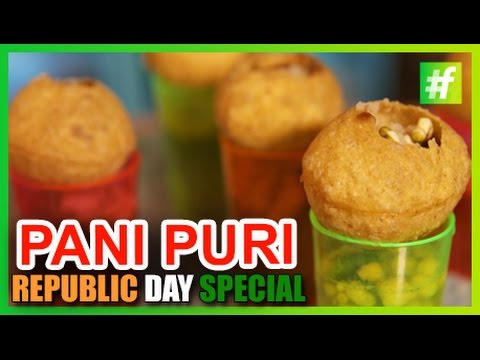 #fame food - How to Make Vodka Pani Puri   Republic Day Special   by Amrita Rana