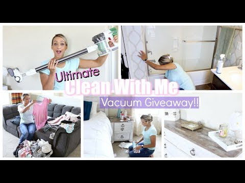 ULTIMATE CLEAN WITH ME AND HUGE VACUUM INTERNATIONAL GIVEAWAY