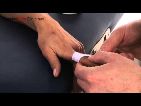 Finger taping the finger to prevent bending.