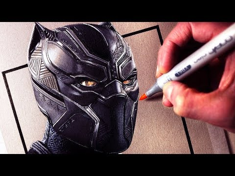 Let's Draw BLACK PANTHER - FAN ART FRIDAY