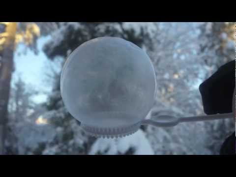 Bubbles freezing at -26°C