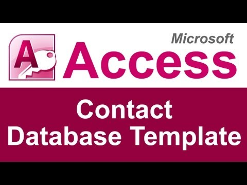 Microsoft Access Contact Database Template