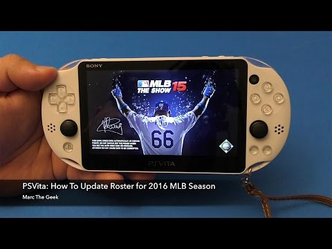 PSVita: How To Update Roster for MLB 2016 Season