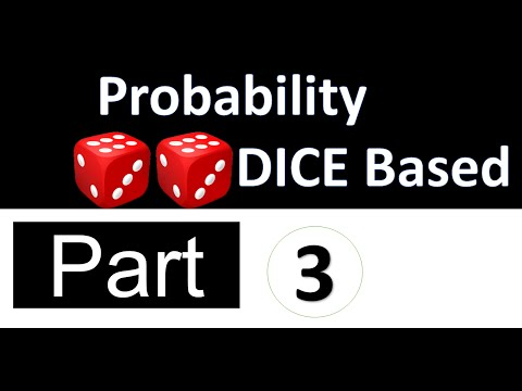 Probability Dice Problems - 3 in Just 10 Seconds
