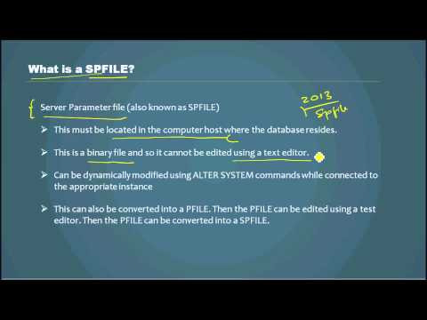 What is a SPFILE? - Database Tutorial 32