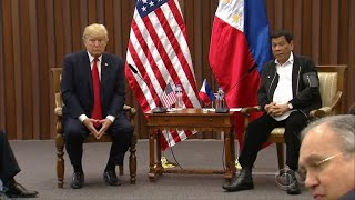 Trump praises Philippine president as Asia trip ends