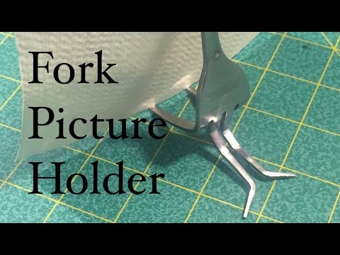 How to Make a Fork Picture Holder Display For Your Art Artwork