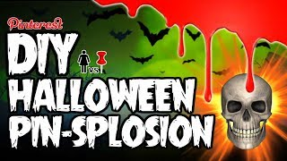 DIY Halloween PIN-SPLOSION! PIZZA SKULLS, FINGER CANDLES, AND BEARS! OH MY