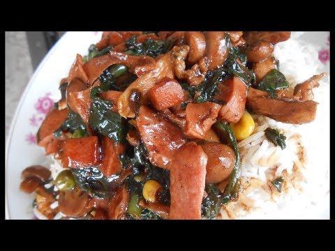 Mauritian Chop Suey (vegetables, chicken and mushroom)