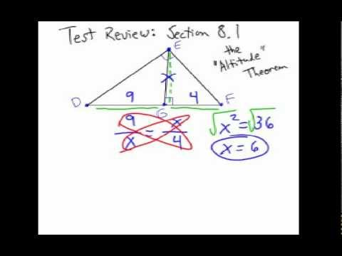 How to Solve Right Triangle Altitude Problems: Geometric Mean #1