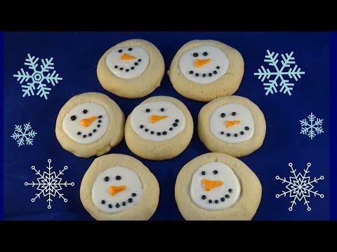 Thumbprint Snowman Cookies- with yoyomax12