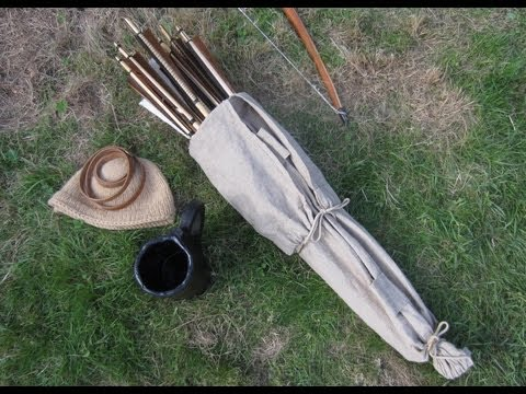 Making the Medieval Arrow Bag Part 2 - The Cloth Bag (Video 29)