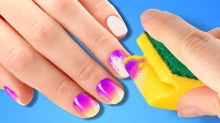 Download 25 BRIGHT NAIL HACKS FOR EVERY GIRL Video