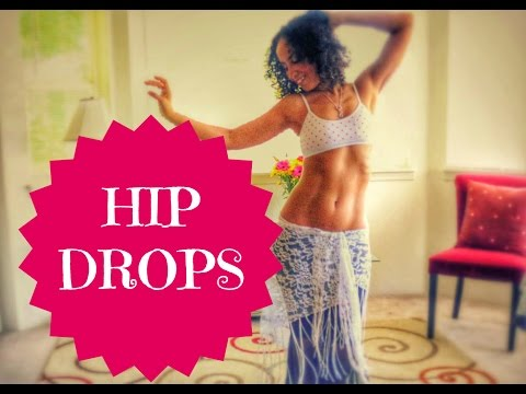 Learn to belly dance. How to do a simple hip drop