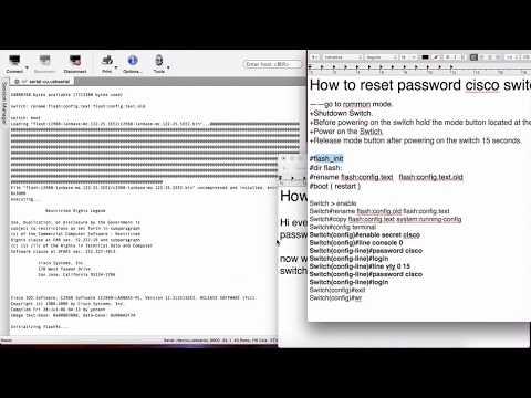 How to reset password cisco switch