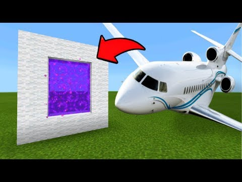 Minecraft Pe Portal To The Airplane Dimension - Mcpe Portal To The Airplane!!!