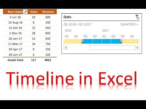 How to use Timeline and add custom style for a Timeline in Excel