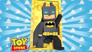 LEGO BATMAN IN THE TOY STORE! Minecraft ToyStore w/LittleKelly