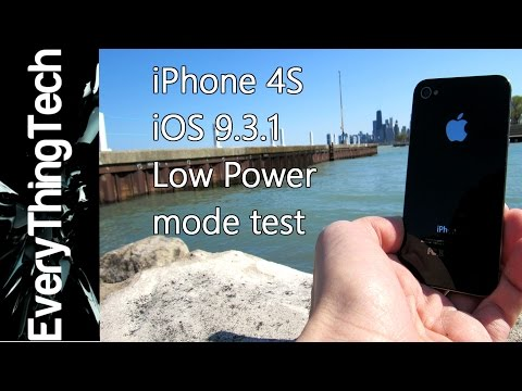 iPhone 4S iOS 9.3.1 Low Power Mode Test [VLOG#2]