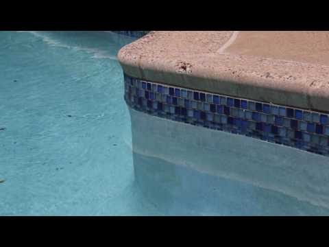 Swimming Pool Blue Glass Tile Installation - Blue Bell, PA
