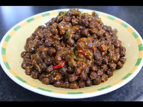 Kala Chana curry (black chickpea) healthy vegetarian dinner recipe