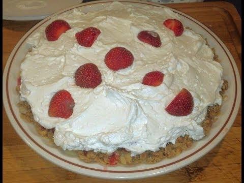 How to Make  No-Bake Strawberry Pie with Granola Crust (Gluten Free Option)