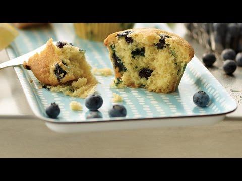 Fresh Blueberry Lemon Muffins   2012 Milk Calendar Recipe