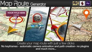 After Effects Template : Map Route Generator