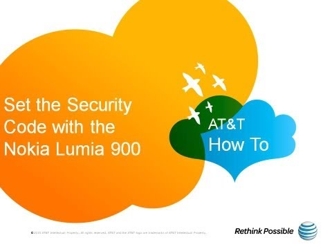 Set the Security Code with the Nokia Lumia 900: AT&T How To Video Series