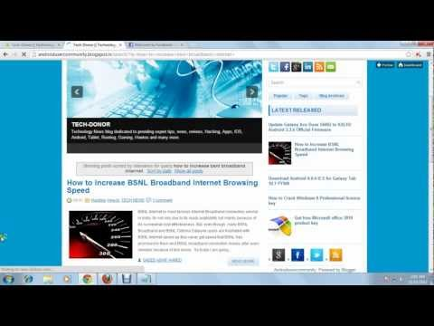 How to Increase BSNL Broadband Internet Browsing Speed