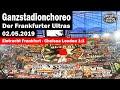 Ganzstadionchoreo der Frankfurter Ultras   Eintracht Frankfurt - Chelsea London 1:1 Komplette Choreo